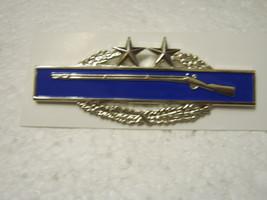 Army Combat Infantry Qualification Badge 3rd Award 2 Stars Bright Finish Nip - $9.99