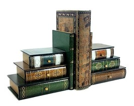 Bellaa 25389 Book Bookends Vintage Decor Wooden - $24.16