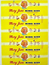 Vintage bread wrapper MARY JANE KING SIZE girl pictured Norfolk Virginia... - $9.99