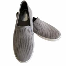 Michael Kors Slip on Shoe MK LOGO Women's Leather Slip On Sneakers Gray ... - $46.45