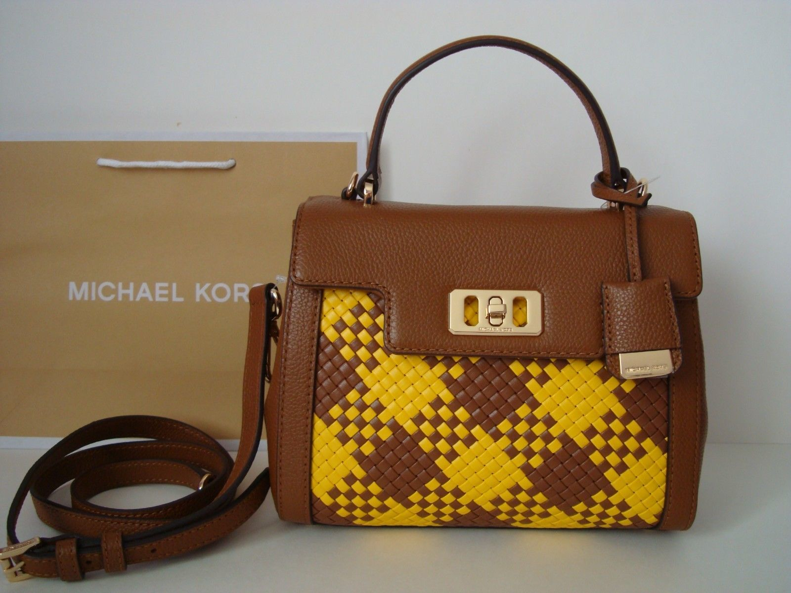 4b9b30acceaf NWT Michael Kors KARSON Satchel Leather and 50 similar items. S l1600