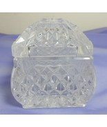 Lead Crystal Diamond Point Lidded Trinket Keepsake Box - $17.90