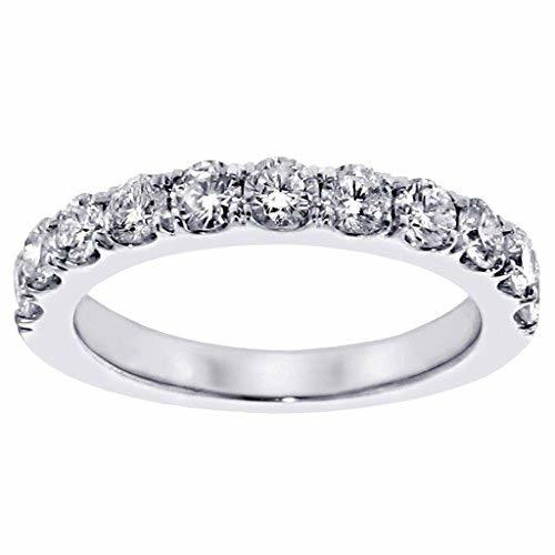 VIP Jewelry Art 1.00 CT TW Split Prong Round Diamond Wedding Band in Platinum -