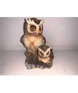 "Vintage MayRich Resin Owls 4 1/4"" - $7.50"