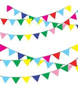 750 Ft Multicolor Pennant Banners String Flag Banner,600Pcs Nylon Fabric... - $30.20