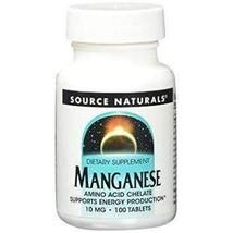Source Naturals Manganese 10 mg 100 Tablet - $7.04