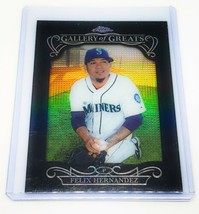 Mlb Felix Hernandez Mariners 2015 Topps Chrome Gallery Of Greats Refractor Mnt - $2.60