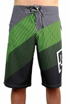 NEW DC SHOES MEN'S PREMIUM BOARD SHORTS SURF TRUNKS SWIMWEAR 4 WAY STRETCH GREEN image 2