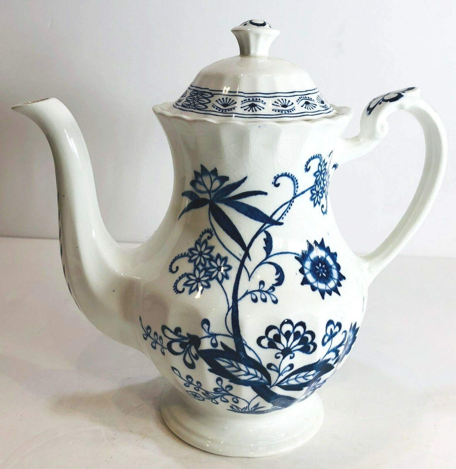 Vintage A/&G Meakin England Classic white coffee pot.
