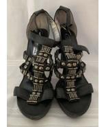 BCBG Maxazria MA Evie Womens Shoes Open Toe High Heels Sz 6.5 - $42.73