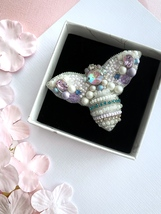 Brooch embroidery butterfly  - $35.00