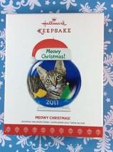 Hallmark Ornament 2017 Meowy Christmas Christmas Tree Photo Holder Cat NEW - $9.00