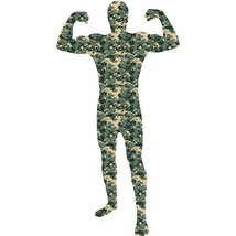 Camouflage Morph Costume Men's Medium (32-34) Halloween Skin Suit Dress ... - $19.79
