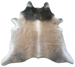 Taupe Cowhide Rug Size: 7' X 6' Beige & Gray Cowhide Skin Rug M-518 - $187.11