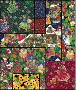 8 Fat Quarters,Very Rare Quilt Fabric,Night Before Christmas,Cute Victorian Mice - $34.70
