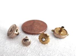 Edwardian 2 Shirt Studs Antique Gold Plated Detachable Backs 1900 Genuine Pearl - $20.00
