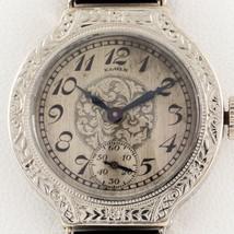 Elgin 14k Oro Bianco Decorato Donna Mano-Avvolgimento Abito Watch W/ pelle Band - $1,188.00