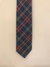 "Gap Men's Plaid Tie Tartan 4""x 60"" Blue Rayon Wool Blend - $9.89"
