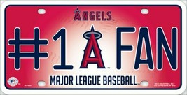 NUMBER ONE ANGELS FAN Souvenir MLB Licensed Metal License Plate Sign - $8.90