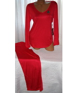 Red Pajama Set Stretch Harve Benard M Long Sleeves Long Pants - $28.99