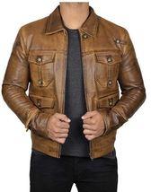 New Men's Black Leather Jacket Men-Genuine Biker Asymmetrical Men Leathe... - $159.99+