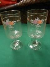"Beautiful Pfaltzgraff ""Trousseau"" Set Of 2 Wine Goblets ""His & Her's"" - $27.31"