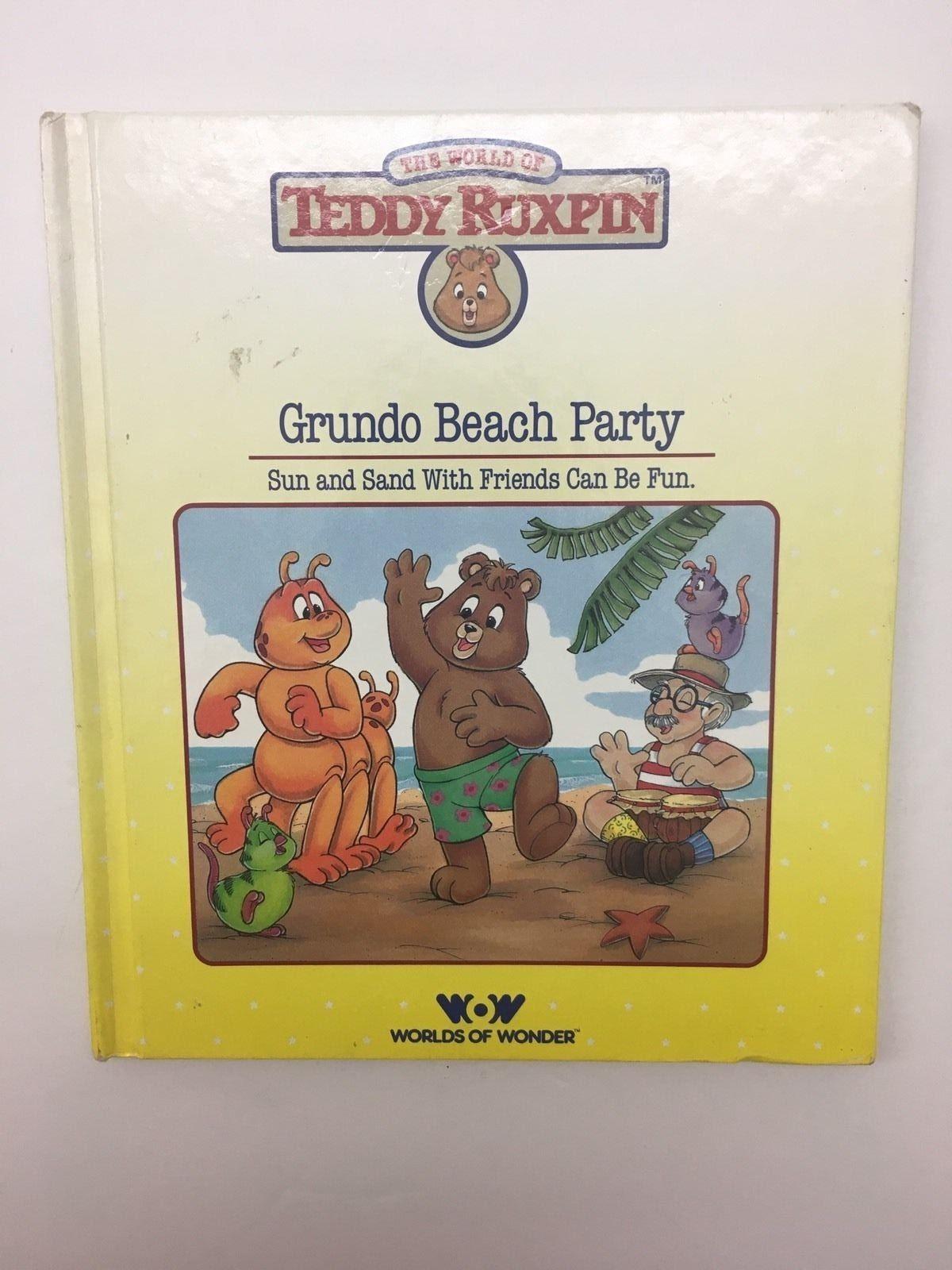The World of Teddy Ruxpin Grundo Beach Party Book 1986 Worlds of Wonder