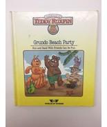 The World of Teddy Ruxpin Grundo Beach Party Book 1986 Worlds of Wonder - $16.19