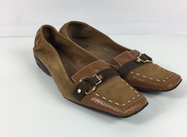 Cole Haan Women's Size 7.5 B Flat Suede Loafer Air Technology Square Toe Brown - $22.27