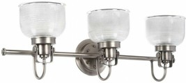 Bathroom Vanity Lighting 26.25 in. 3-Light Prismatic Glass Shades Antiqu... - $52.47