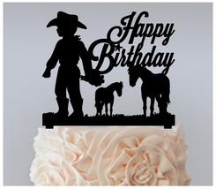 Decorations Birthday Cake topper,Cupcake topper, little boy-girl cowboy : 11 pcs - $20.00