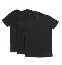 Diesel Essential Jake 3-Pack Black Round Neck Short Sleeve T-Shirt 100% ... - $34.99