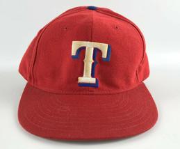 Texas Rangers New Era 5950 Pro Model Baseball Hat Red Diamond Collection 7 3/8 - $19.79