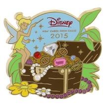 Disney 2015 Visa Cardmember Pin - Tinker Bell Jewled Treasure Chest - $18.79