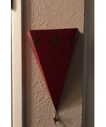 Southern Living At Home Sassy Metal Red Ornate Shelve/Sconce Art Deco 1 EUC - $16.00