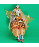 Vintage 14-Inch Decorative Fairy Doll With Stand, Wings, Bouquet, and Cap - $12.95