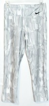 Nike Women's Power Legend Dri-Fit Marble Gray Crop Training Leggings Size S