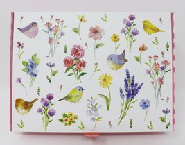 Ashland Keepsake Cigar Box Decorative Box - New - Wildflower Birds - $25.64