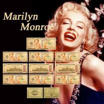 WR Marilyn Monroe Gold Foil 10PCS Banknote Set 1926-1962 Fan Gifts Paper... - $10.79