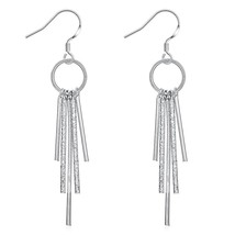 Womens Silver  Tassel Drop Dangle Hook Fashion Earrings - $9.79