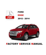 FORD EDGE 2012 2013 2014 WORKSHOP MAINTENANCE MANUAL - $14.95