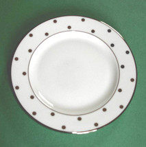 Kate Spade LARABEE ROAD Bread & Butter Plate Platinum Dotted New - $19.90