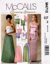 McCall's M4710 Misses Formals Two Piece Sewing Pattern Petite Sizes 6-8-... - $11.45