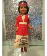 """Native American Indian Tourist Souvenir Style Doll 10"""" Tall Plastic - $19.80"""