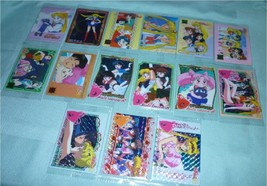 JAPAN Pearly Prism Sailor moon complete set PVC Hard Plastic 15 card Bandai LOT  - $55.98