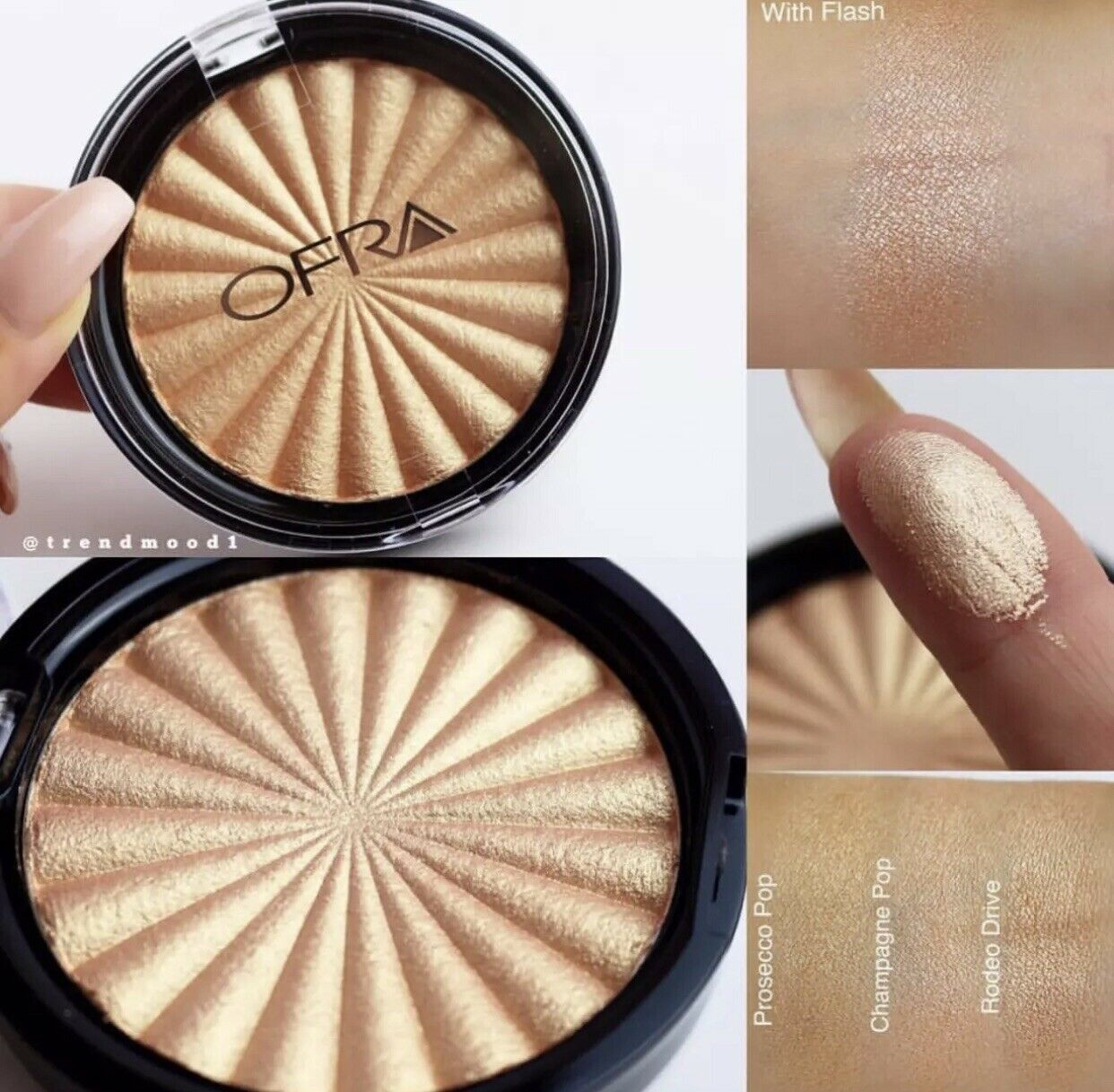 Primary image for OFRA COSMETIC RODEO DRIVE Gold Shimmer Highlighter Luminizer Kim Kardashian Glam