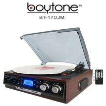 Boytone BT-17DJM 3-Speed Stereo Turntable Belt drive with 2 Built in Spe... - $63.67