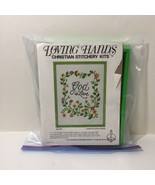 """God is Love Crewel Embroidery Kit Loving Hands 6"""" x 8"""" - $10.69"""