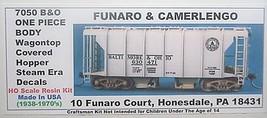 Funaro & Camerlengo HO B&O Wagontop covered hopper, Steam Era decals, kit 7050 image 1