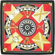 Hermes Scarf SEXTANTS Vintage Silk Carre LOIC DUBIGEON 90cm - $289.95
